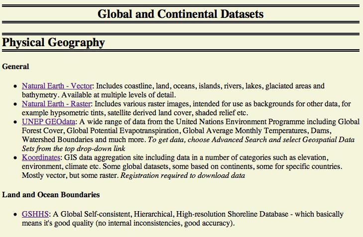 Screenshot of Free GIS Website